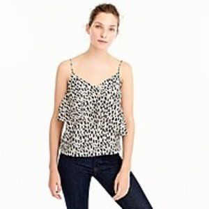 PRICE DROP! J. Crew  000 Silk Cami Leopard SUMMER!